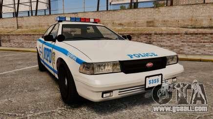 GTA V Vapid Police Cruiser NYPD for GTA 4