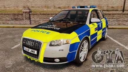 Audi S4 Avant Metropolitan Police [ELS] for GTA 4