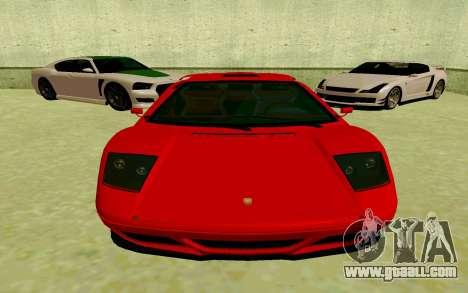 GTA V Pegassi Infernus for GTA San Andreas left view