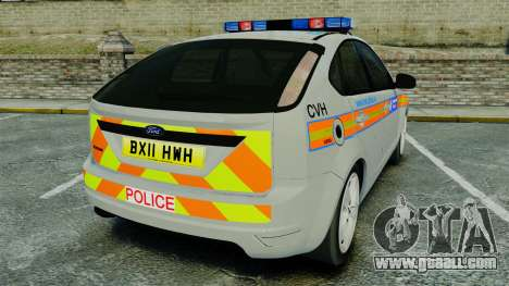 Ford Focus Metropolitan Police [ELS] for GTA 4 back left view