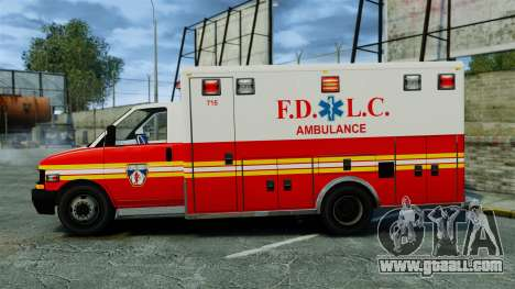 Brute FDLC Ambulance [ELS] for GTA 4 left view