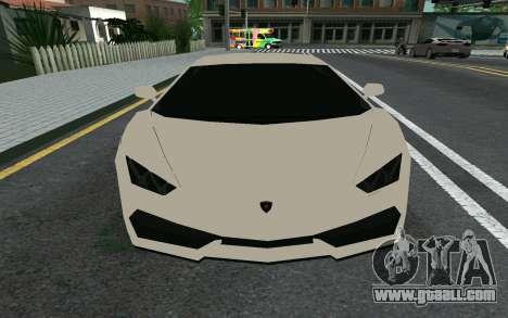 Lamborghini Huracane LP610-4 for GTA San Andreas left view