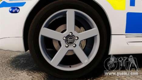 Volvo V70 II Swedish Police [ELS] for GTA 4 back view
