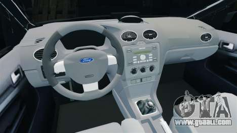 Ford Focus Metropolitan Police [ELS] for GTA 4 inner view