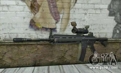 HK416 with ACOG for GTA San Andreas