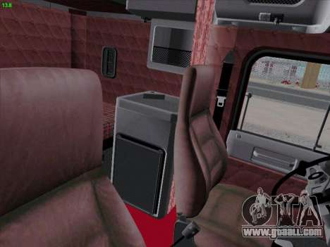 Freightliner FLD 120 for GTA San Andreas inner view