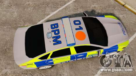 Ford Mondeo 2014 Metropolitan Police [ELS] for GTA 4 right view