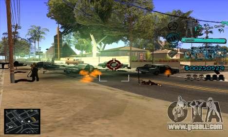 C-HUD Aztecas Gang for GTA San Andreas fifth screenshot