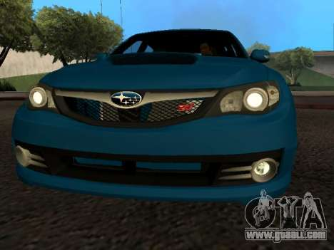 Subaru Impreza STi for GTA San Andreas inner view