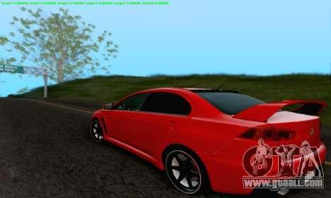 Mitsubishi Lancer X Evolution for GTA San Andreas engine