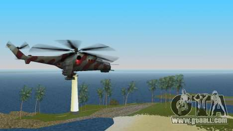Mi-24 Krokodil for GTA Vice City back left view