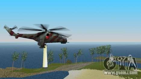 Mi-24 Krokodil for GTA Vice City back left view