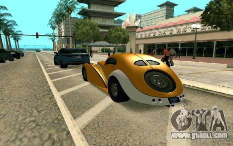 GTA V Z-type for GTA San Andreas left view