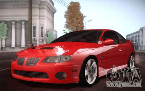 Pontiac GTO 2005 for GTA San Andreas back view