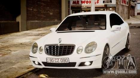 Mercedes-Benz E-Class Executive 2007 v1.1 for GTA 4 back left view