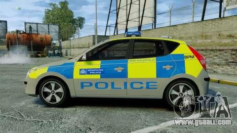Hyundai i30 Metropolitan Police [ELS] for GTA 4 left view