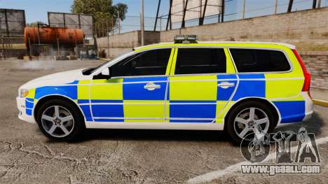 Volvo V70 South Wales Police [ELS] for GTA 4 left view