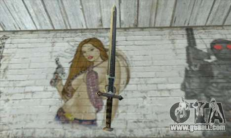 Gothic 2 Sword for GTA San Andreas second screenshot