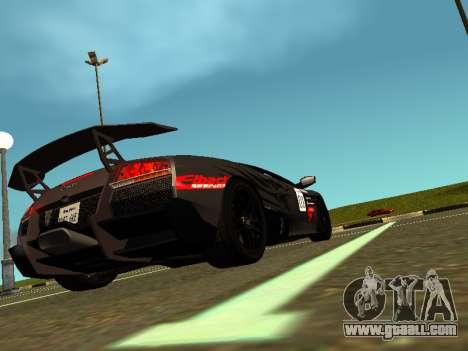 Lamborghini Murcielago LP670-4 SV Team Ravenwest for GTA San Andreas left view