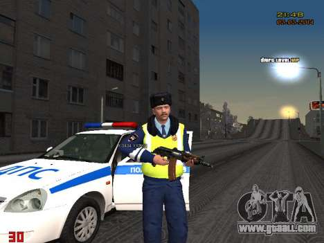 Pak DPS in a winter format for GTA San Andreas