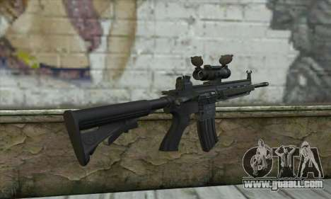 HK416 with ACOG for GTA San Andreas second screenshot