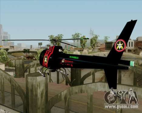 Sparrow BOPE for GTA San Andreas back left view