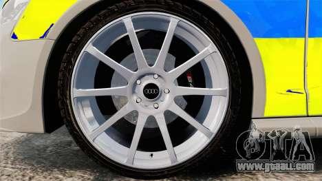 Audi S4 ANPR Interceptor [ELS] for GTA 4 back view