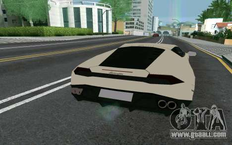 Lamborghini Huracane LP610-4 for GTA San Andreas back left view