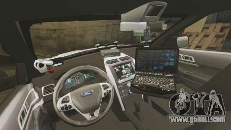 Ford Explorer 2013 LCPD [ELS] v1.5X for GTA 4 back view