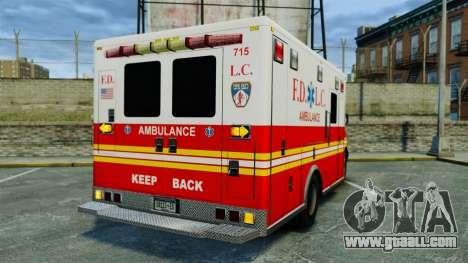 Brute FDLC Ambulance [ELS] for GTA 4 back left view