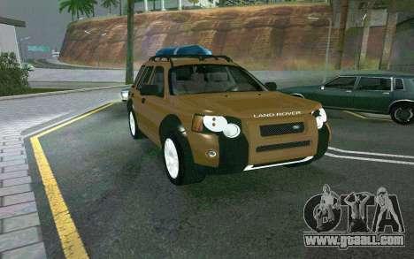 Land Rover Freelander for GTA San Andreas back left view