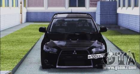 Mitsubishi Lancer Evo X for GTA San Andreas back view