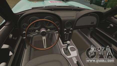 Chevrolet Corvette C2 1967 for GTA 4 back view