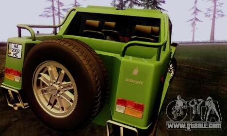 Lamborghini ML002 for GTA San Andreas left view