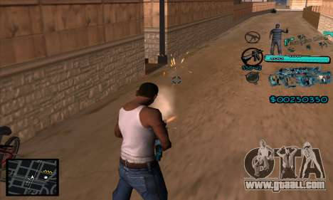 C-HUD Aztecas Gang for GTA San Andreas third screenshot