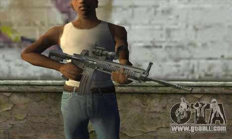HK416 with ACOG for GTA San Andreas third screenshot