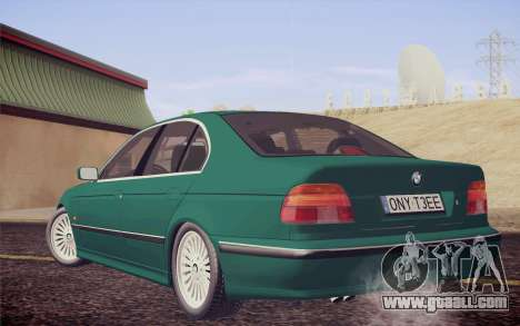 BMW M5 E39 528i Greenoxford for GTA San Andreas left view
