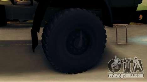 KamAZ 4310 Brevnova for GTA San Andreas back view