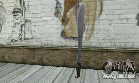 Machete from Postal 3 for GTA San Andreas