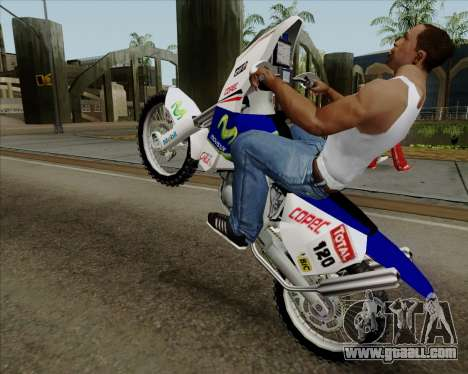 KTM 450 for GTA San Andreas back left view