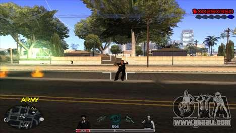 C-Hud Army by Kin for GTA San Andreas third screenshot