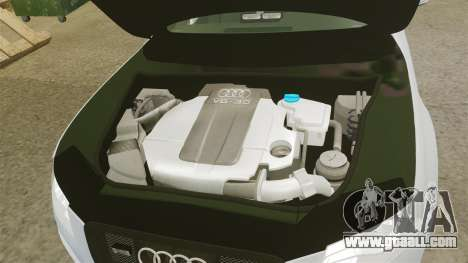 Audi S4 Unmarked Police [ELS] for GTA 4 inner view