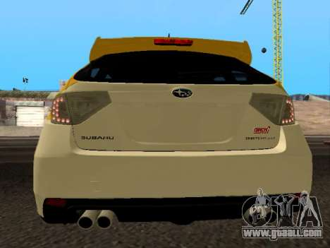 Subaru Impreza STi for GTA San Andreas back left view