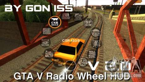 GTA 5 Radio HUD for GTA San Andreas