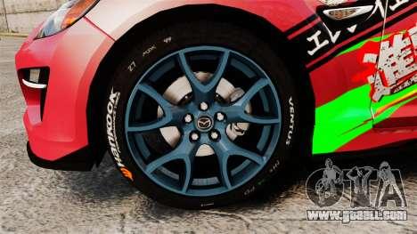 Mazda RX-8 R3 2011 for GTA 4 back view