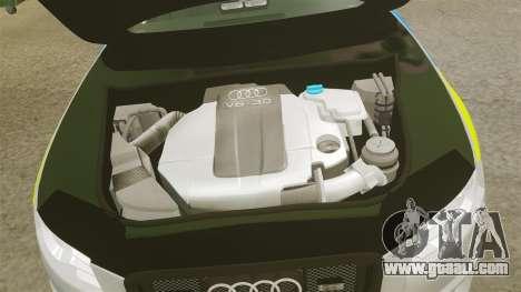 Audi S4 ANPR Interceptor [ELS] for GTA 4 inner view