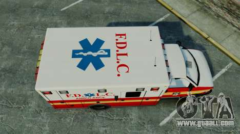 Brute FDLC Ambulance [ELS] for GTA 4 right view