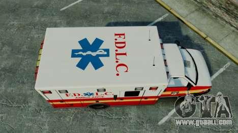 Brute FDLC Ambulance [ELS] for GTA 4 right view