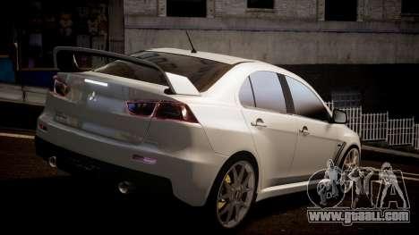 Mitsubishi Lancer Evolution X 2009 v1.3 for GTA 4 left view