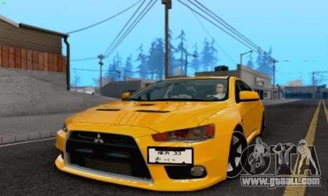Mitsubishi Lancer X Evolution for GTA San Andreas